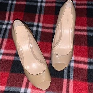 Cole Hahn Nude Wedge